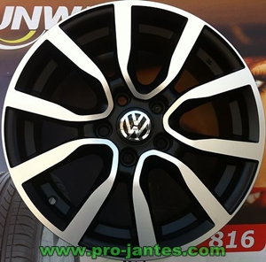Pack Jantes Volkswagen Adidas Black Polish 17 Pouces Polo Golf 4 Boutique Www Projantes Com