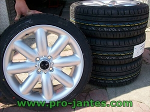 pack jantes mini cooper S one D ray silver runflat 17 pouces+pneus  GOODRIDE SV 308 205/45/17